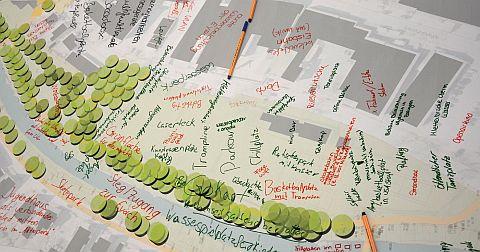 Gezeichneter Plan vom Gartenschau-Gelände