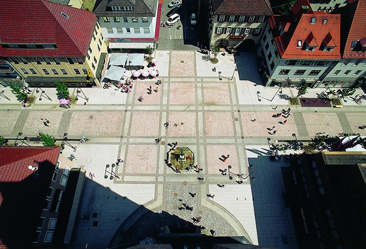 Luftbild vom Marktplatz Balingen