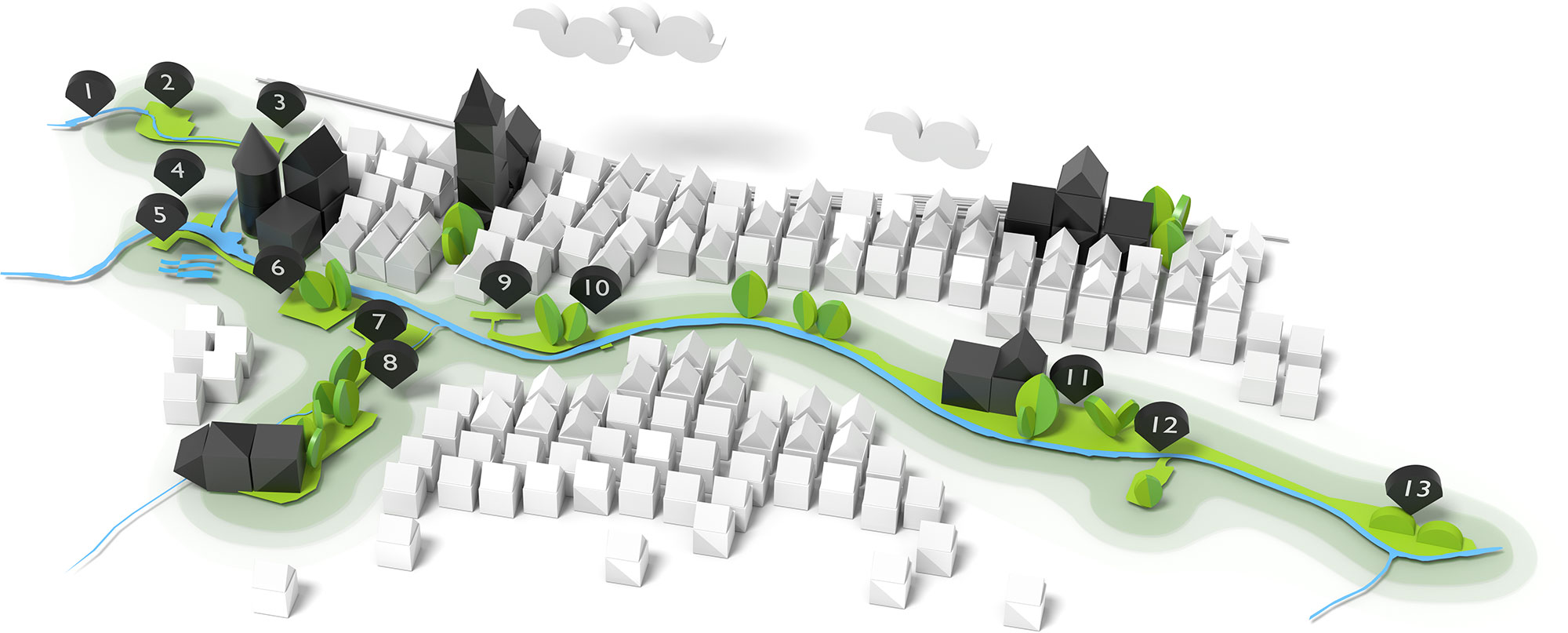 Grafik Geländeplan der Gartenschau