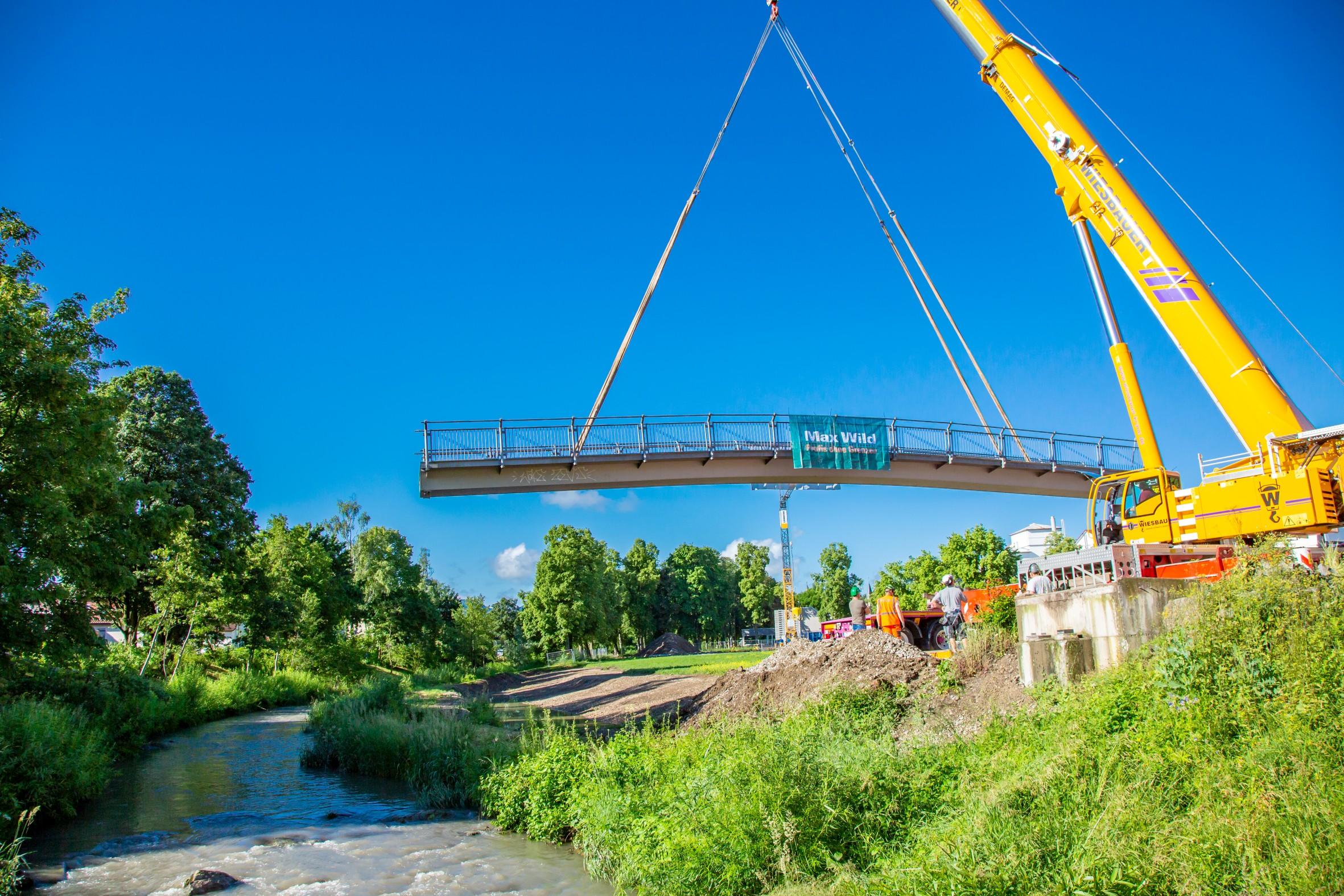 Abbau Brücke parkufersteg