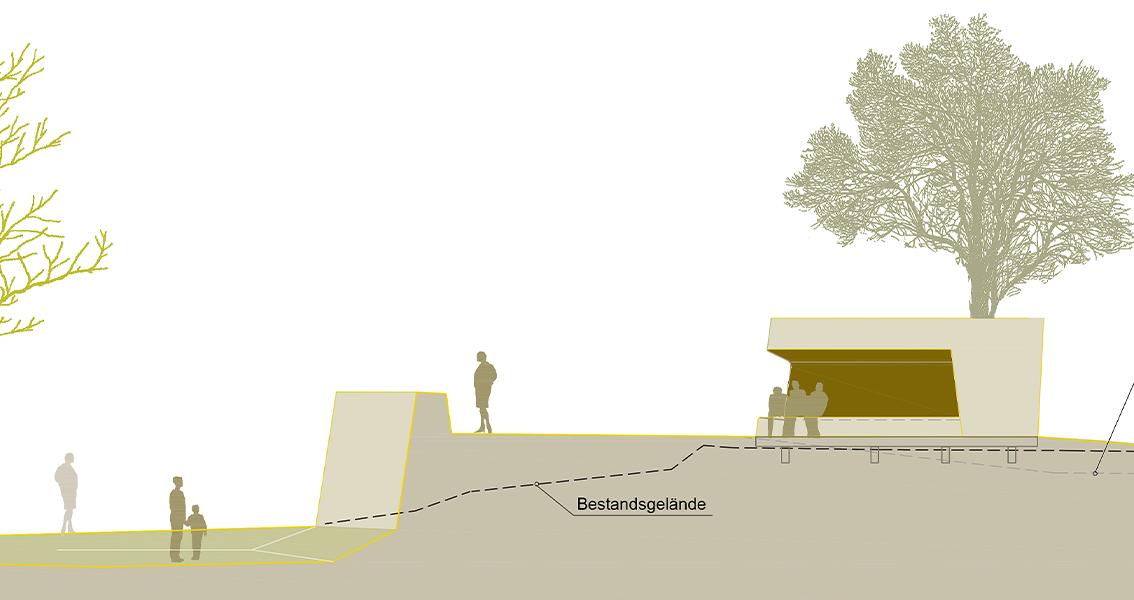 Geländeschnitt am Rappenturm