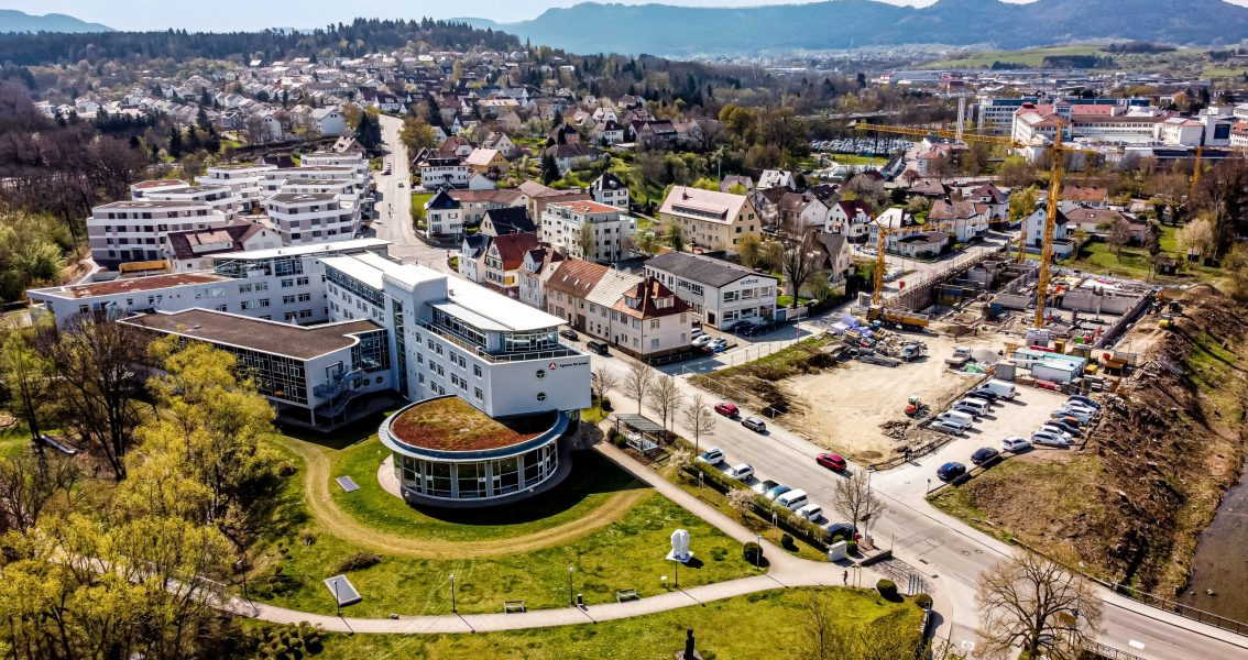 Luftbild des Geländes um die Agentur für Arbeit