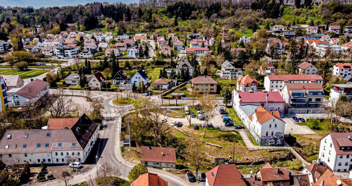 Luftbild mit ehemaligem Jugendhaus