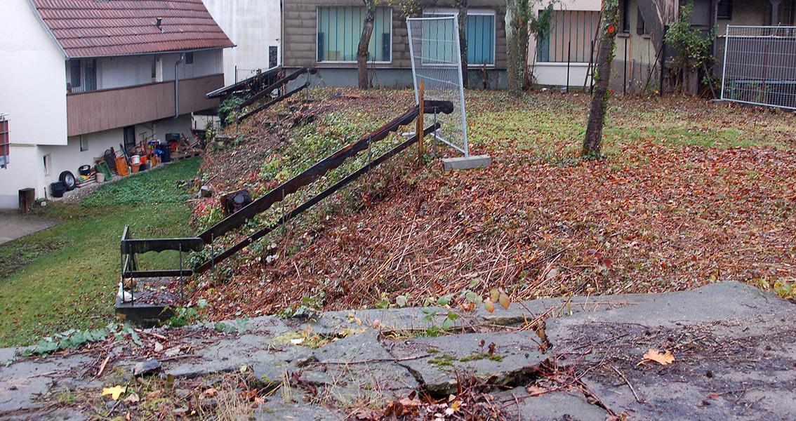 Hintergarten mit Treppe