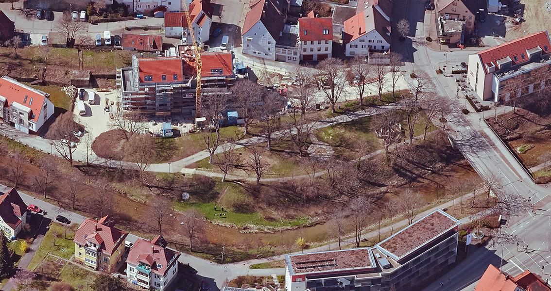 Luftbild vom Stadtgarten