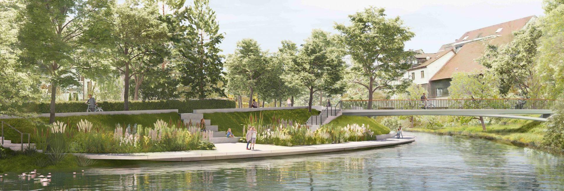 Visualisierung der Wassergärten